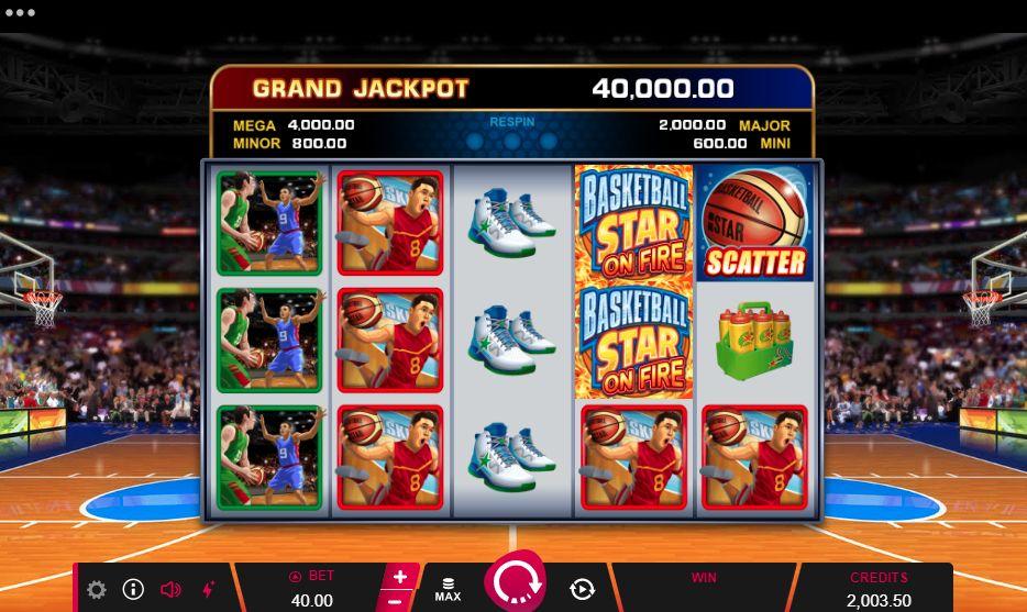 Слот Basketball Star on Fire Slot
