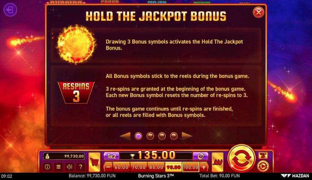 Игровой автомат Burning Stars 3