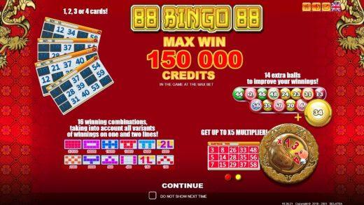 Обзор слота 88 Bingo 88