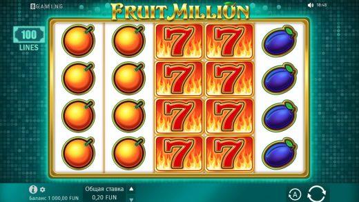 Обзор Fruit Million
