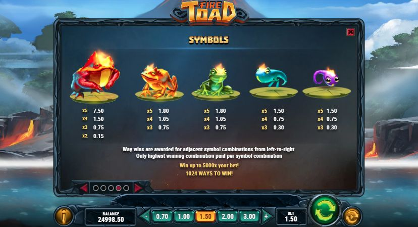 настройки Fire Toad