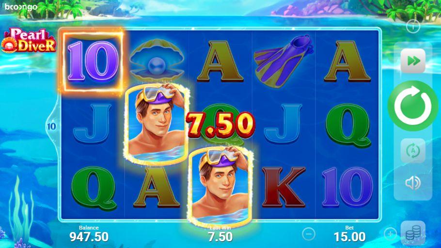 Скриншот выигрыша в слот Pearl Diver