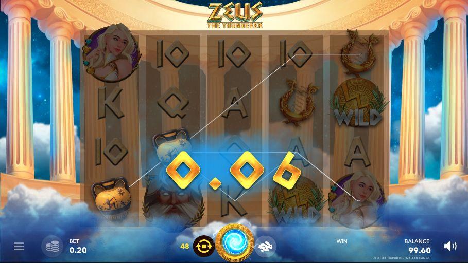 Скриншот выигрыша в слот Zeus The Thunderer