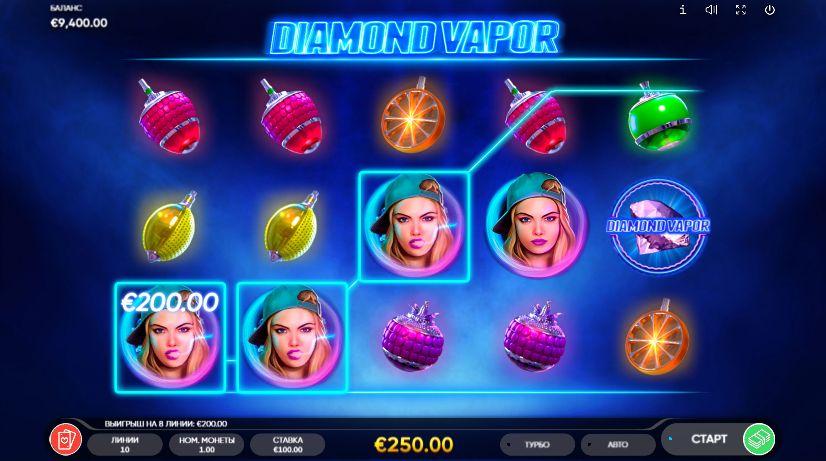Скриншот выигрыша в 250 евро